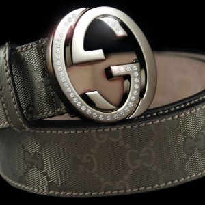 Gucci Platinum & Diamond belt
