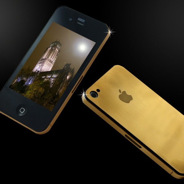 solid gold iphone 4G