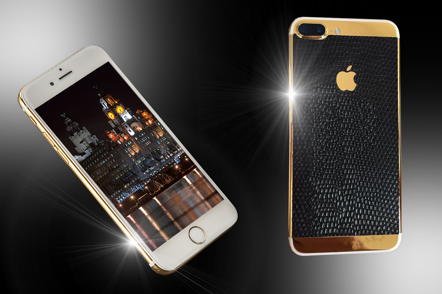 stuart hughes 24ct gold leather iphone 7 plus edition. Black Bedroom Furniture Sets. Home Design Ideas