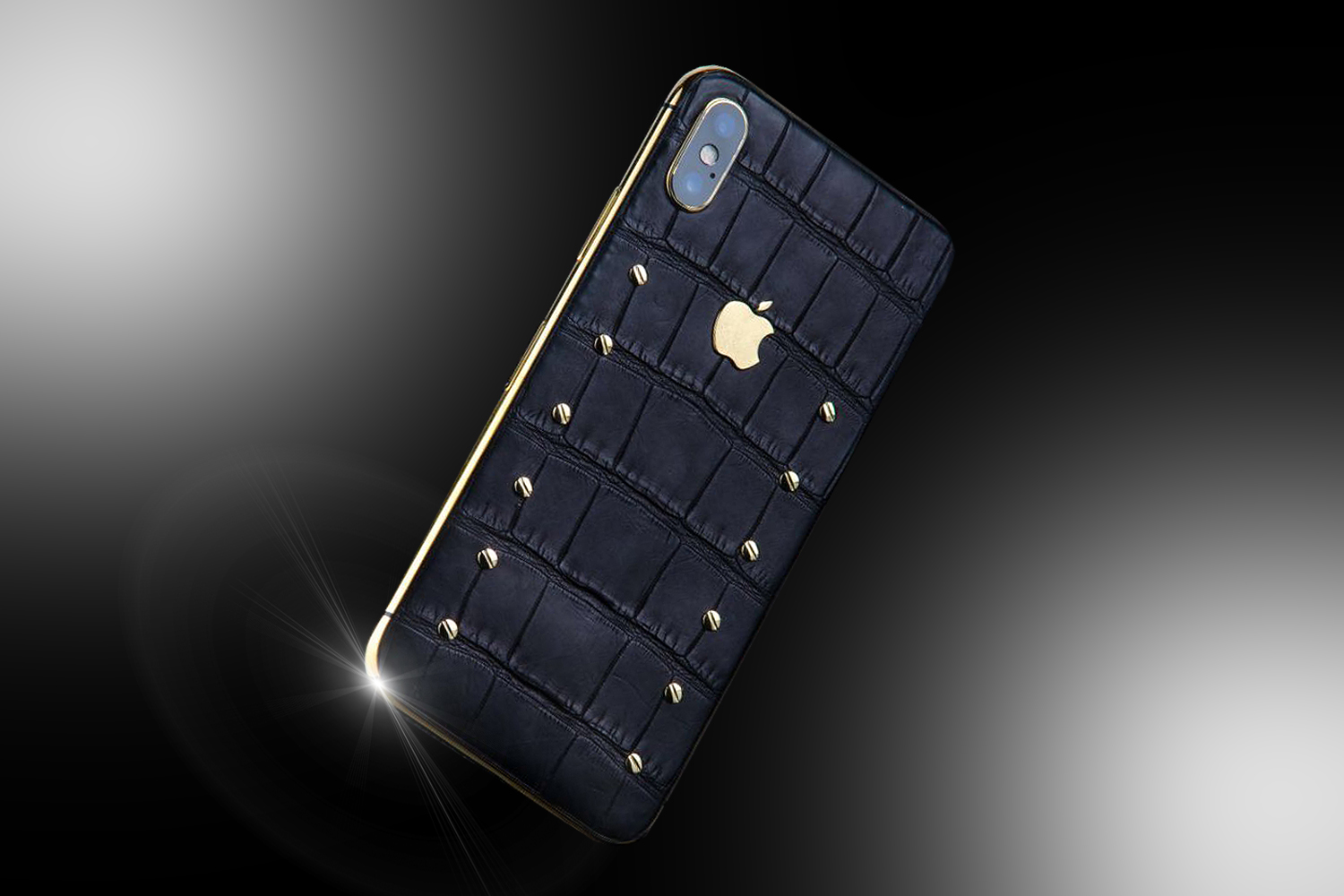 black and gold iphone stuart hughes 24ct gold iphone x black edition 3878
