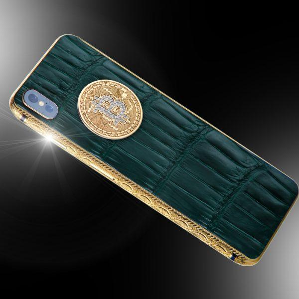 18-каратный золотой бриллиант Iphone! X Bitcoin Edition Стюарт Хьюз -