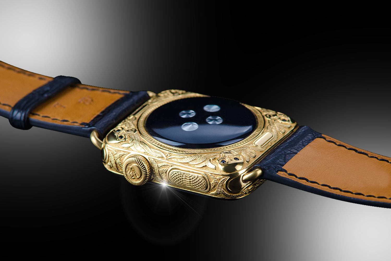 38d88e289ea Stuart Hughes 24ct Gold   Black Diamond Apple Watch SERIES 4 Edition ...