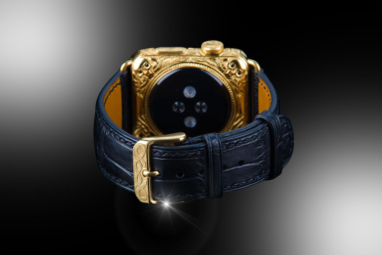 stuart hughes 24ct gold amp black diamond apple watch series