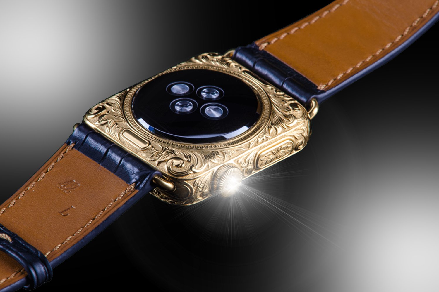 95ba37a8f15 Stuart Hughes 24ct Gold Vintage Apple Watch SERIES 4 Edition ...
