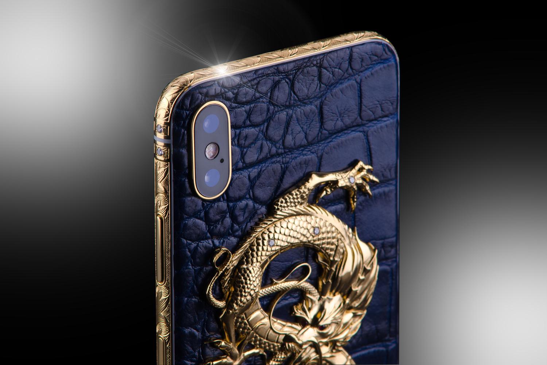 stuart hughes 24ct gold iphone xs diamond dragon edition. Black Bedroom Furniture Sets. Home Design Ideas