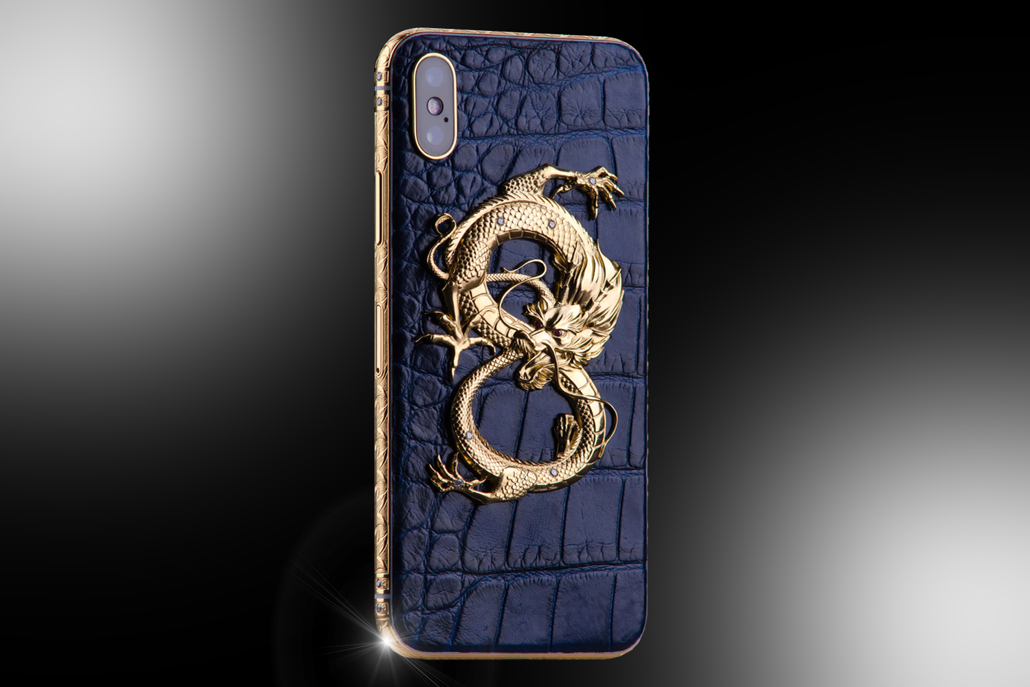 Stuart Hughes 24ct Gold iPhone XS Diamond Dragon Edition