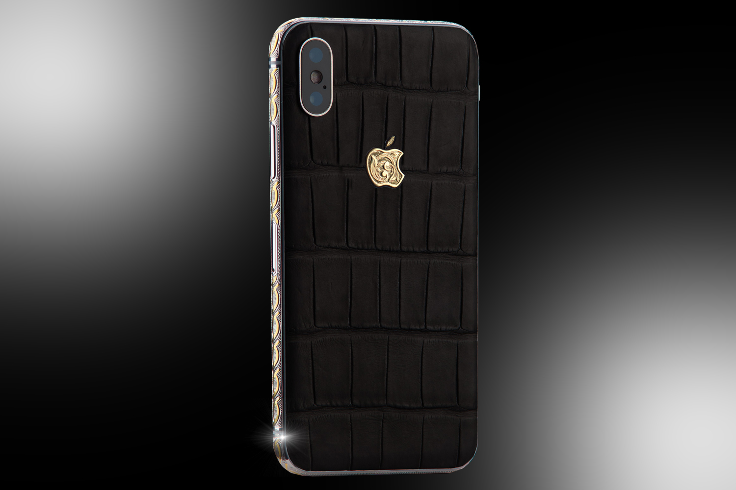 iphone xs max black gold case