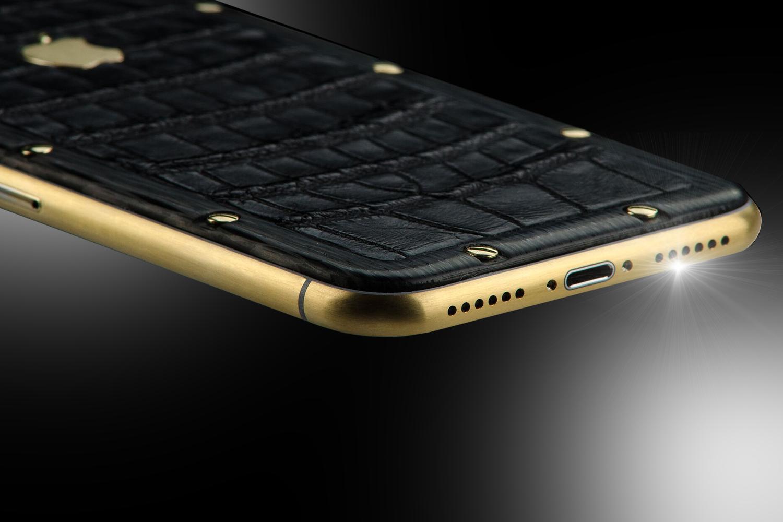 stuart hughes 18ct gold iphone xs night edition stuart. Black Bedroom Furniture Sets. Home Design Ideas