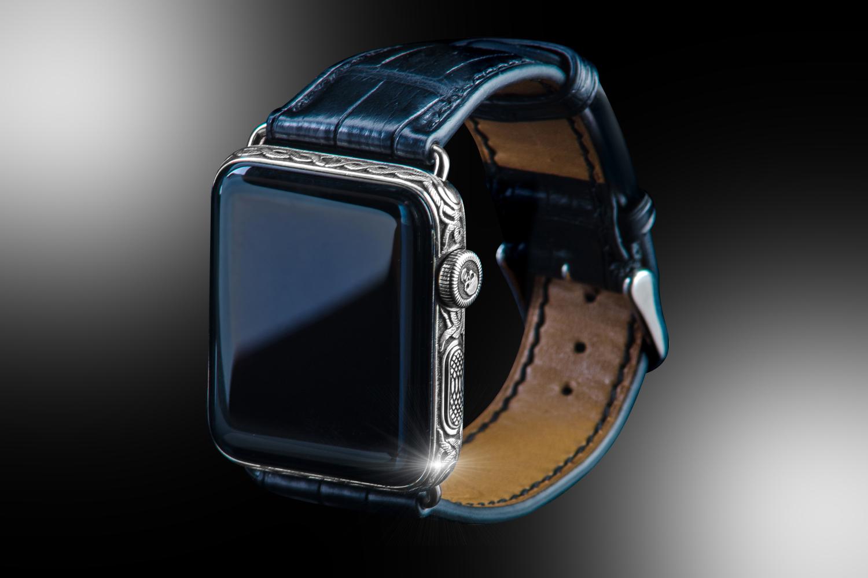 2672acf7543f51 Stuart Hughes Platinum   Black Diamond Apple Watch SERIES 4 Edition ...